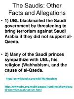 the saudis other facts and allegations