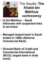 the saudis the khalid bin mahfouz controversy