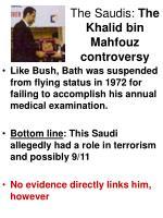 the saudis the khalid bin mahfouz controversy20