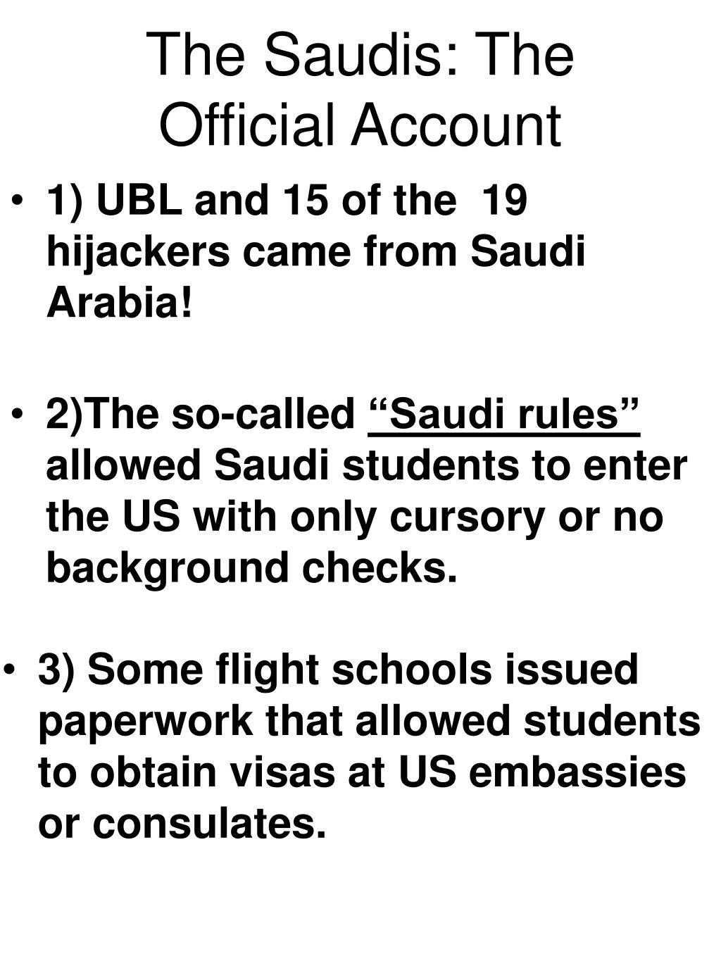 The Saudis: The Official Account