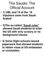 the saudis the official account