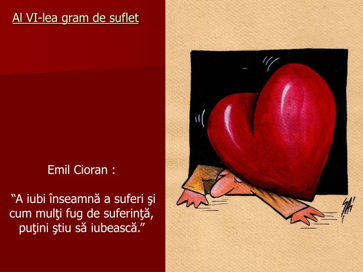 Al VI-lea gram de suflet