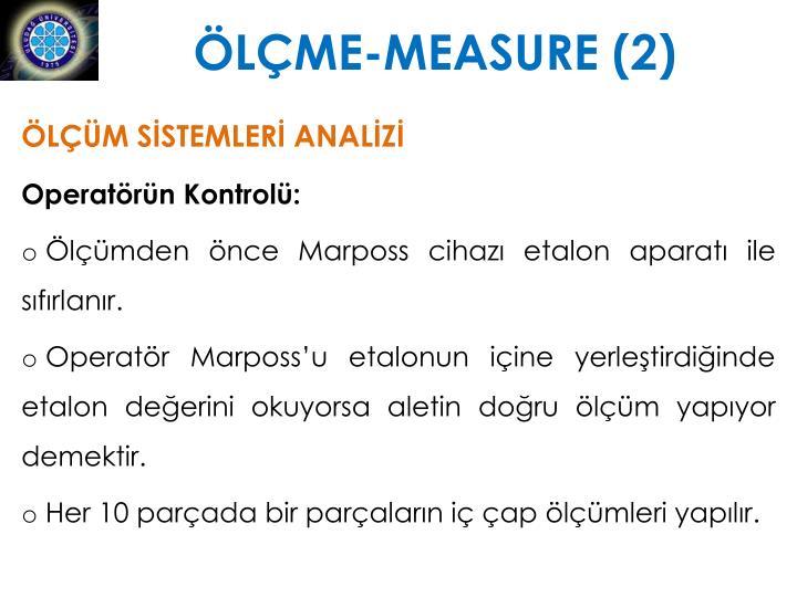 ÖLÇME-MEASURE (2)