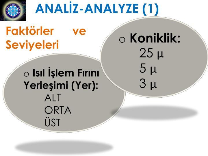 ANALİZ-ANALYZE