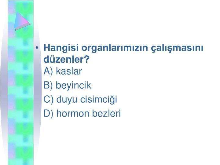 Hangisi organlarmzn almasn dzenler?