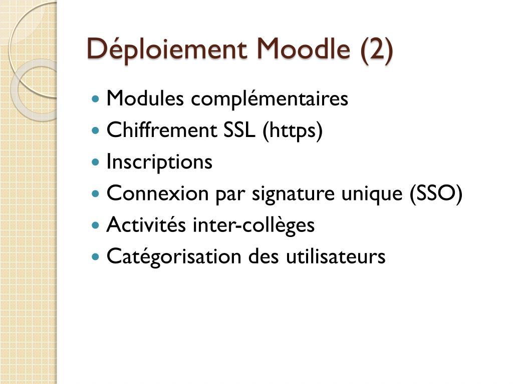 Déploiement Moodle (2)