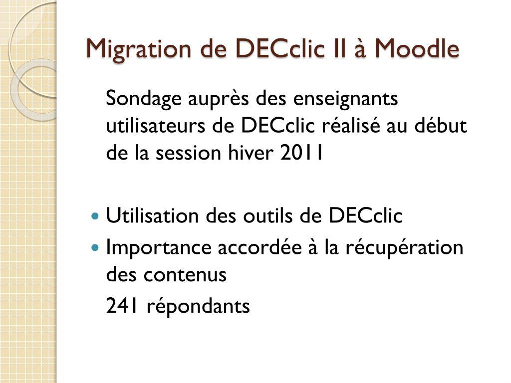 Migration de