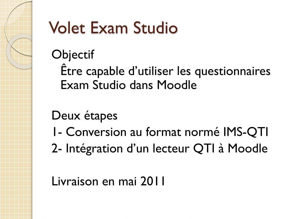 Volet Exam Studio