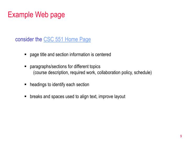 Example Web page