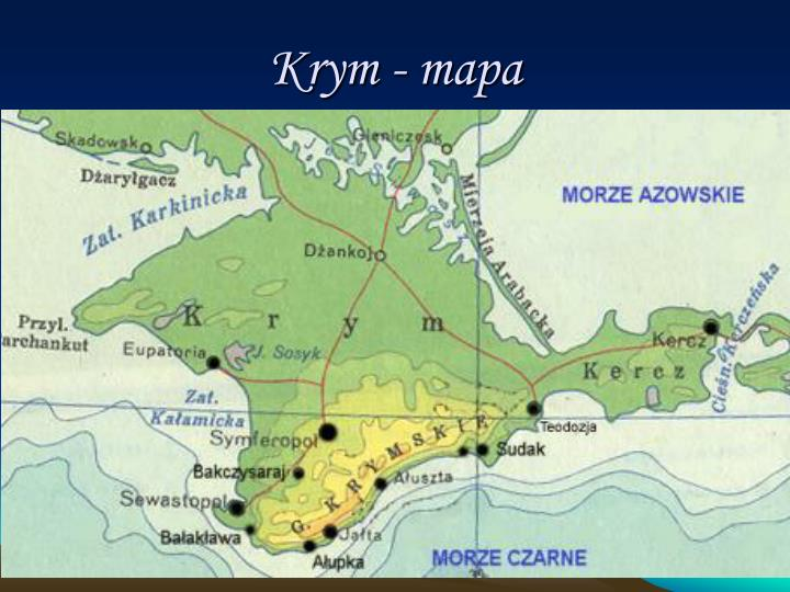 Krym - mapa