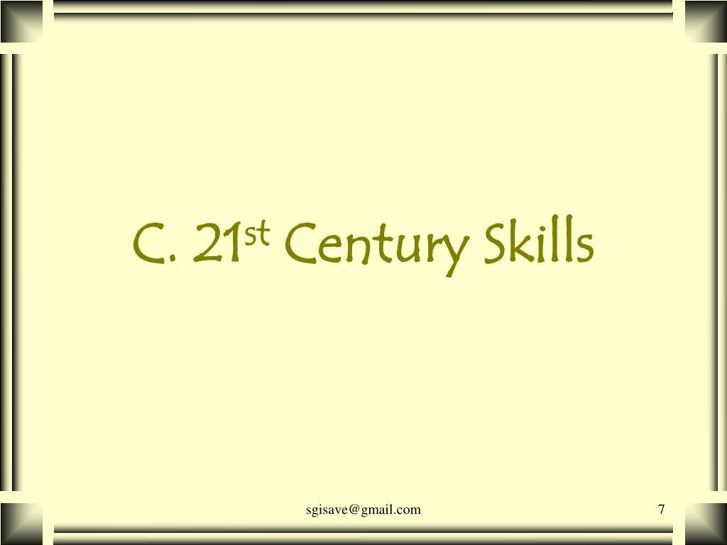 C. 21
