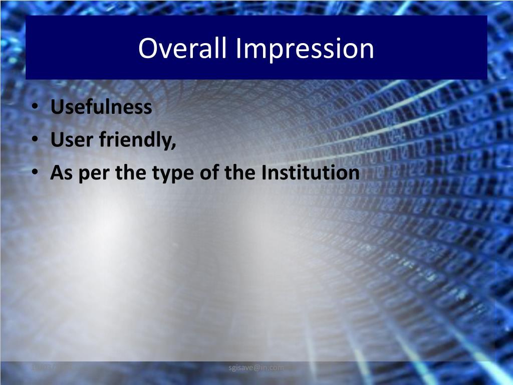 Overall Impression