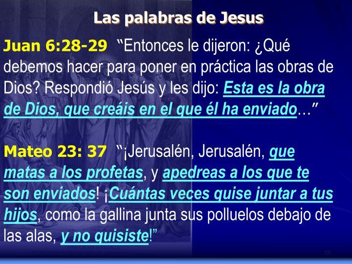 Las palabras de Jesus