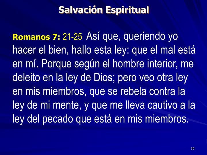 Salvación Espiritual