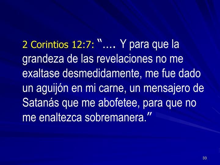 2 Corintios 12:7: