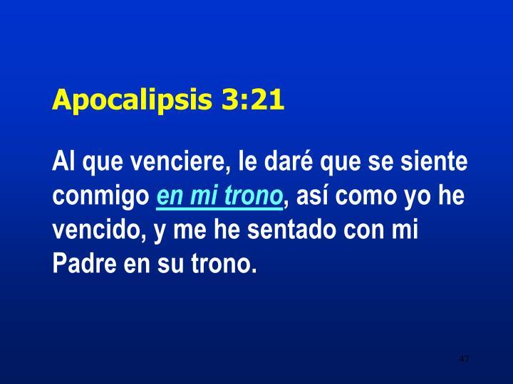Apocalipsis 3:21