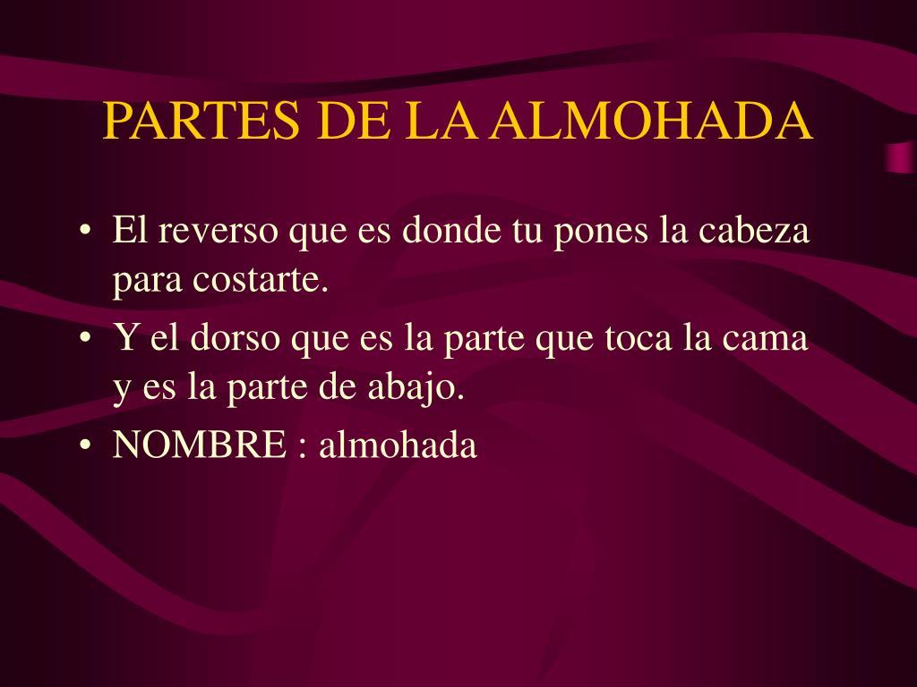 PARTES DE LA ALMOHADA