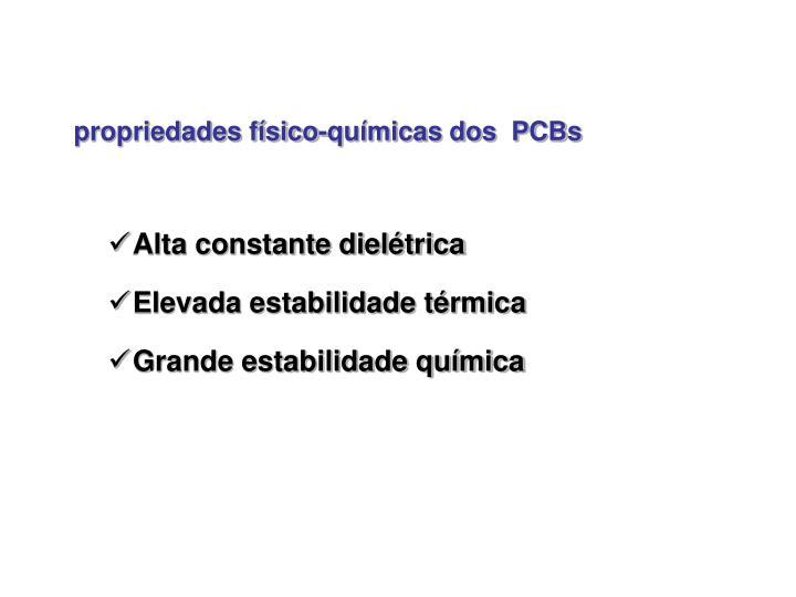 propriedades físico-químicas dos  PCBs