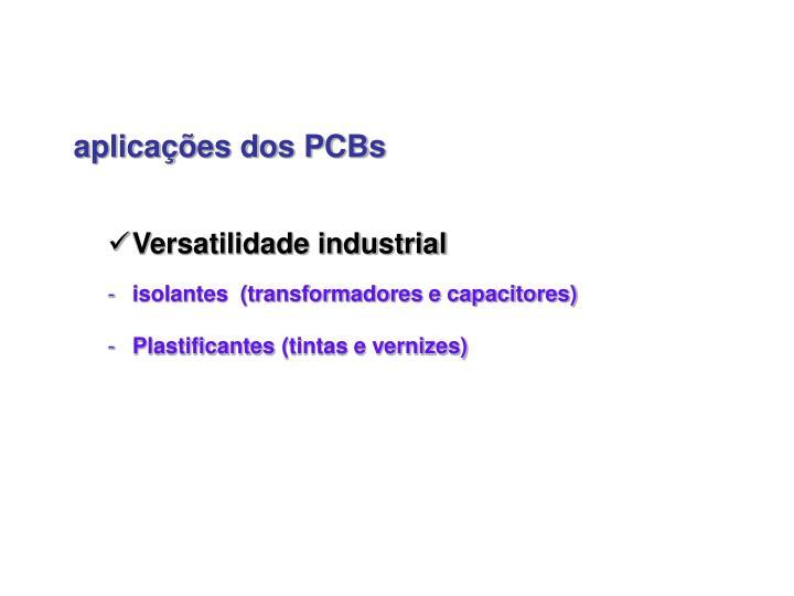 aplicações dos PCBs
