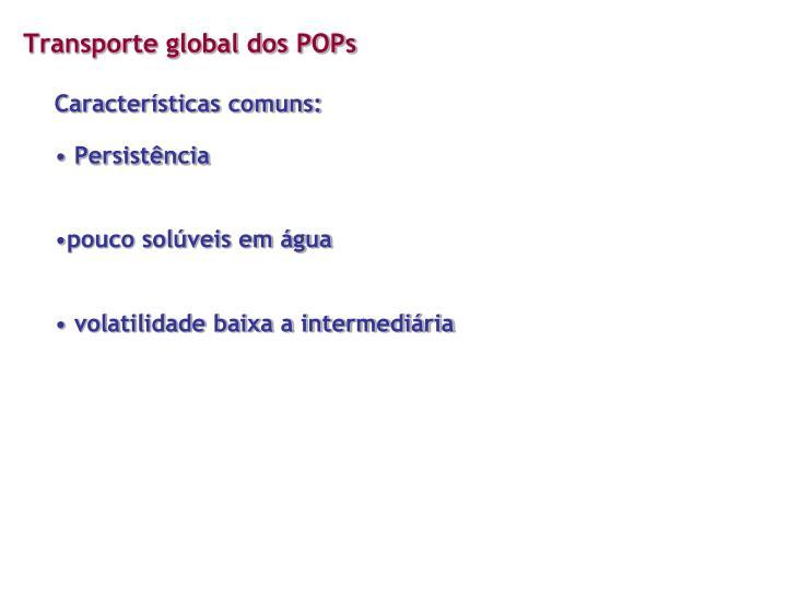 Transporte global dos POPs