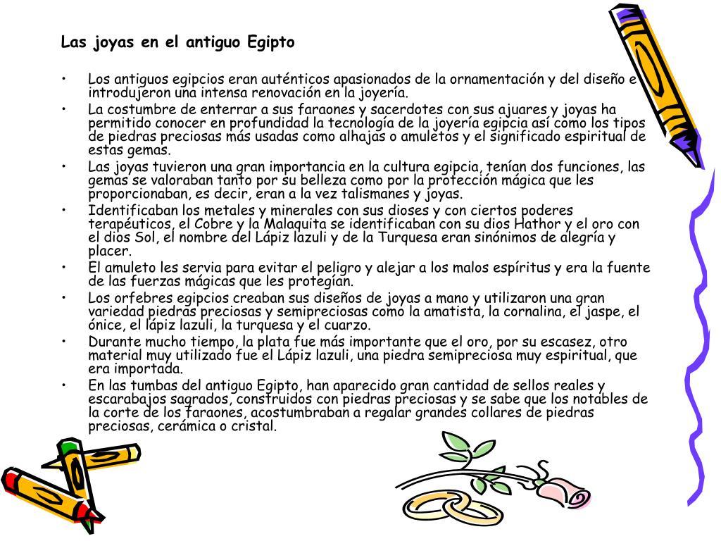 Las joyas en el antiguo Egipto