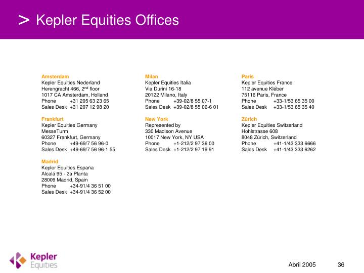Kepler Equities Offices
