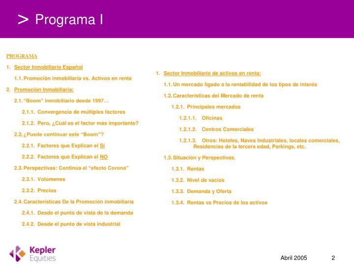 Programa I