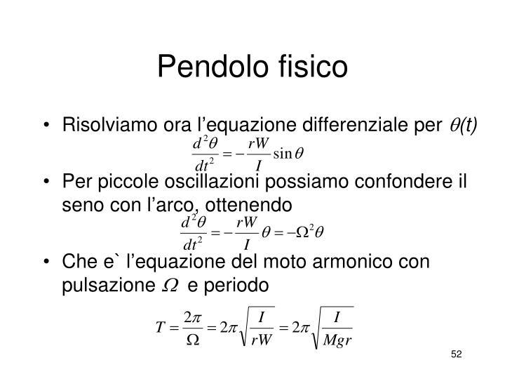 Pendolo fisico