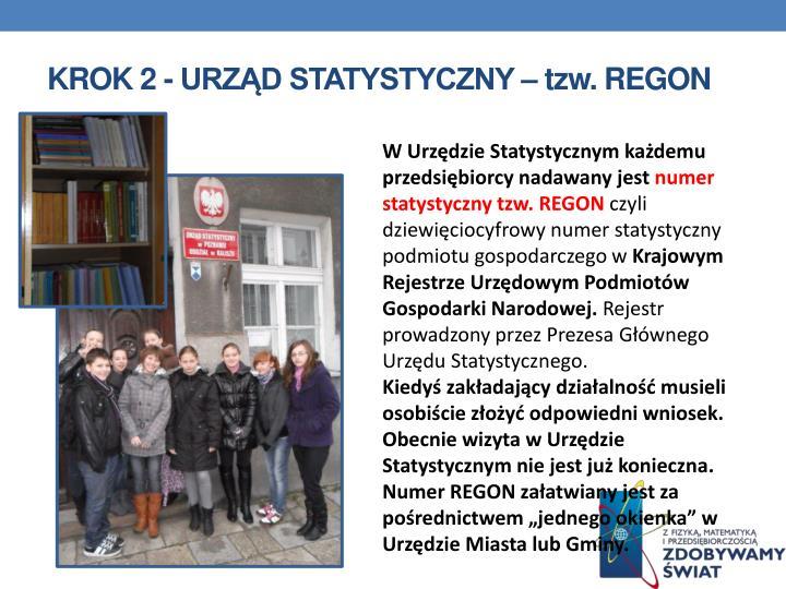 Krok 2 - Urząd statystyczny –