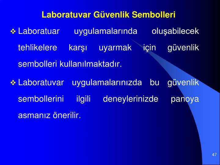 Laboratuvar Gvenlik Sembolleri