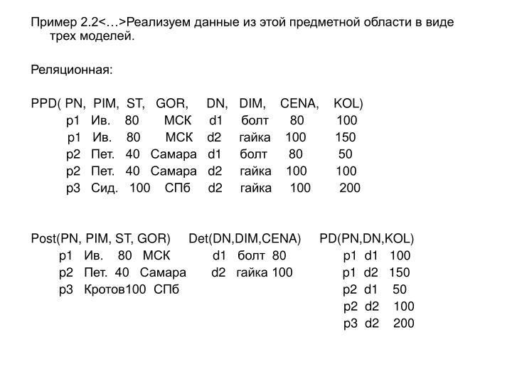 Пример 2.2