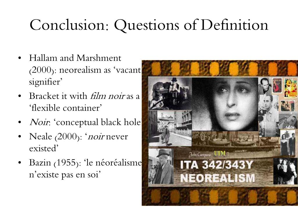 Conclusion: Questions of Definition