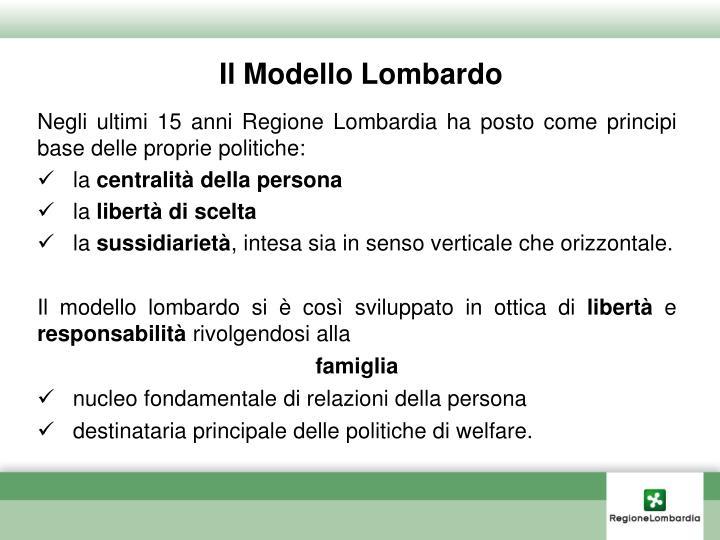 Il Modello Lombardo