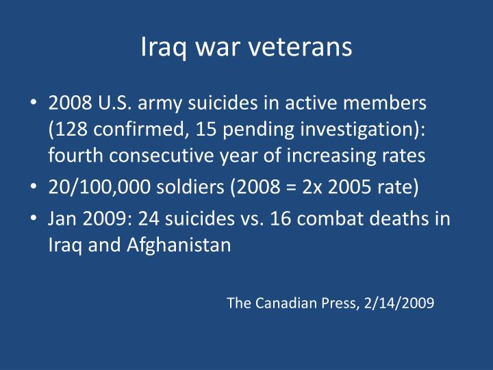 Iraq war veterans