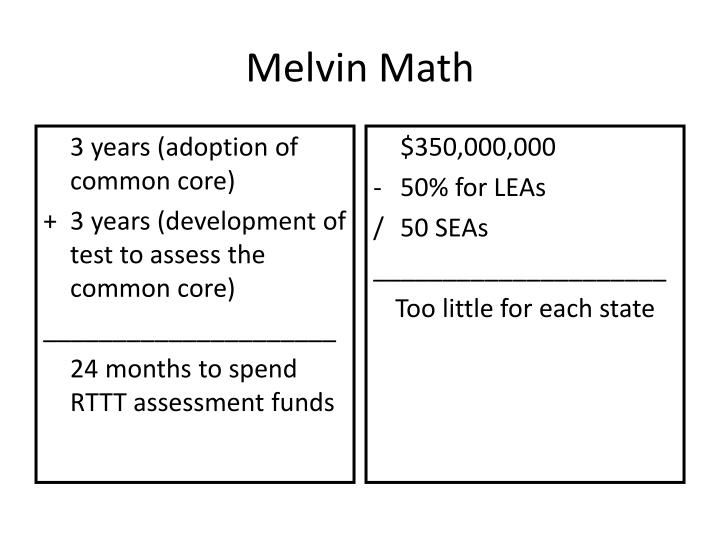 Melvin Math