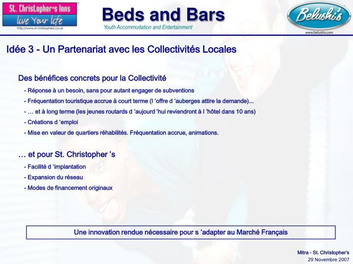 Idée 3 - Un Partenariat avec les Collectivités Locales
