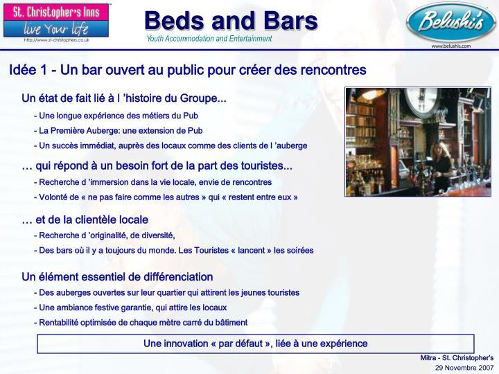 Idée 1 - Un bar ouvert au public pour créer des rencontres