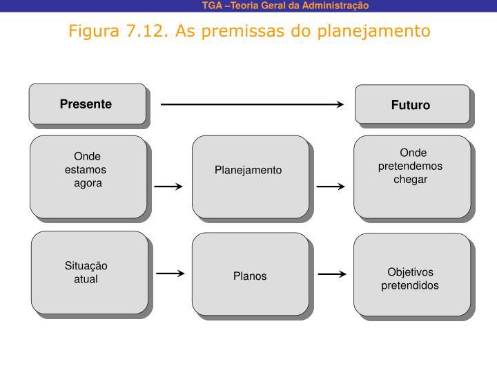 Figura 7.12. As premissas do planejamento