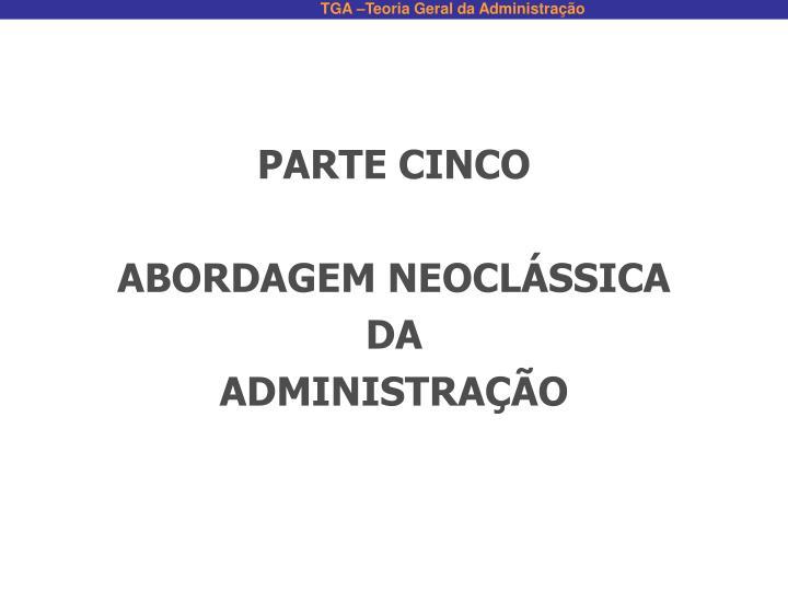 PARTE CINCO