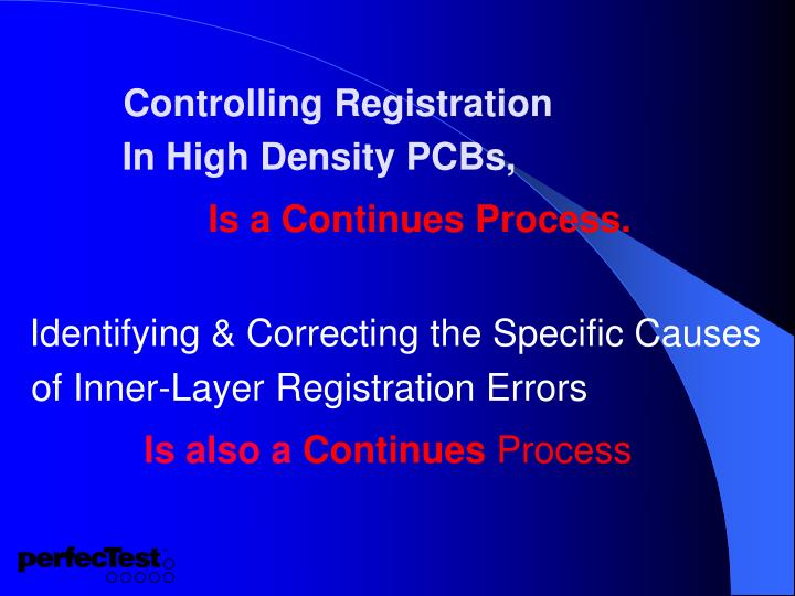 Controlling Registration