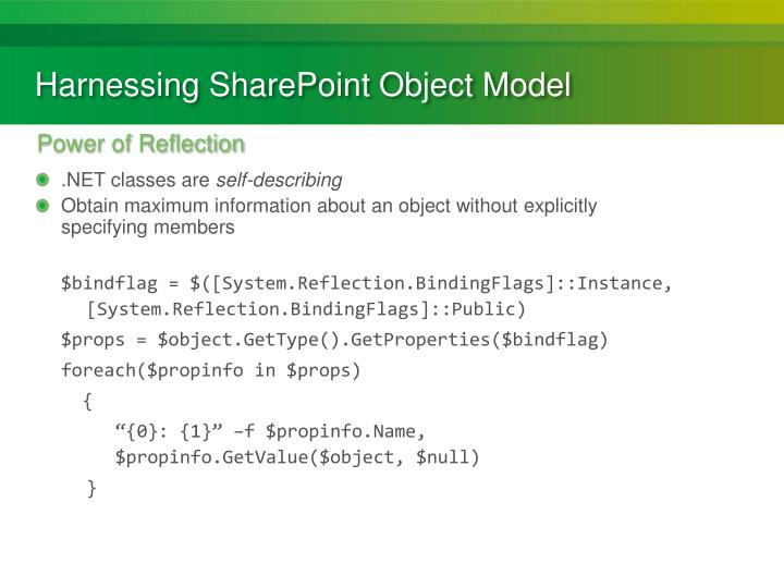 Harnessing SharePoint Object Model