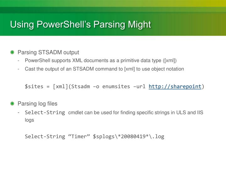 Using PowerShell's