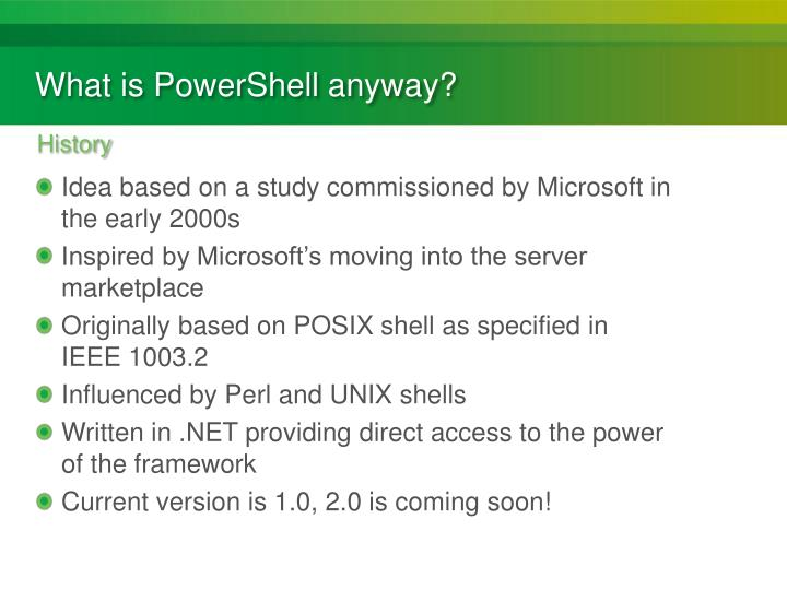 What is powershell anyway