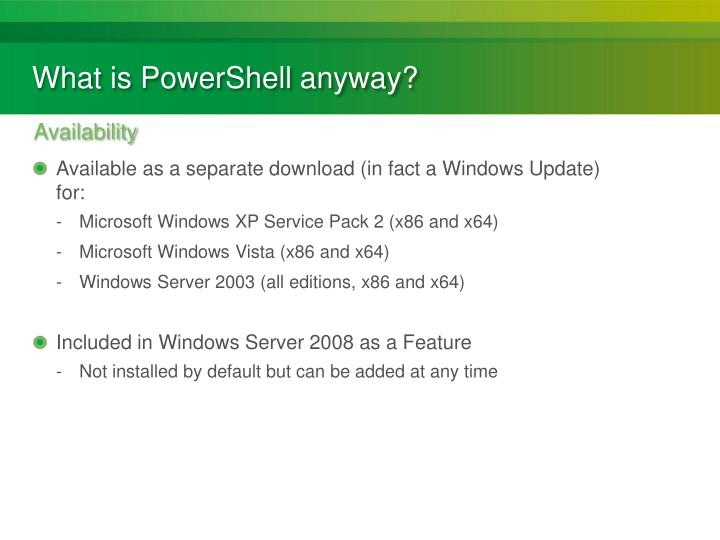 What is PowerShell anyway?