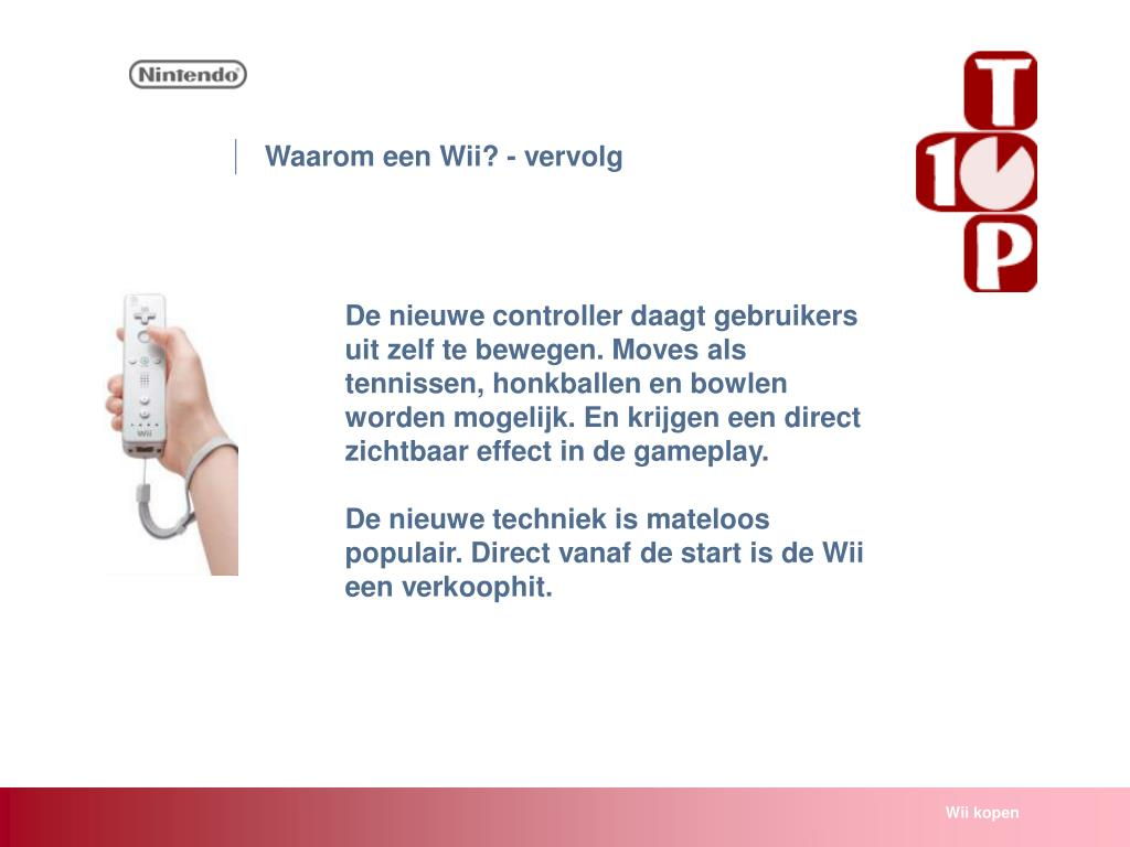 Waarom een Wii? - vervolg