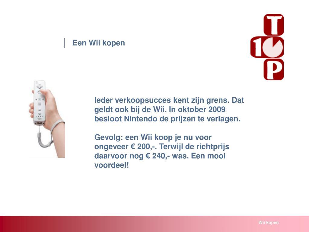Een Wii kopen