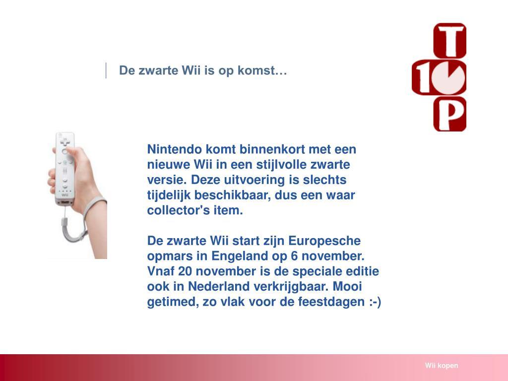 De zwarte Wii is op komst…