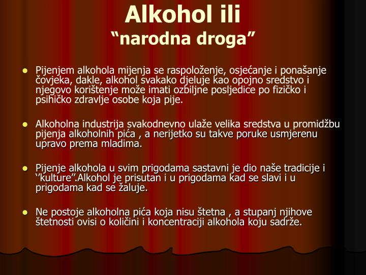 Alkohol ili