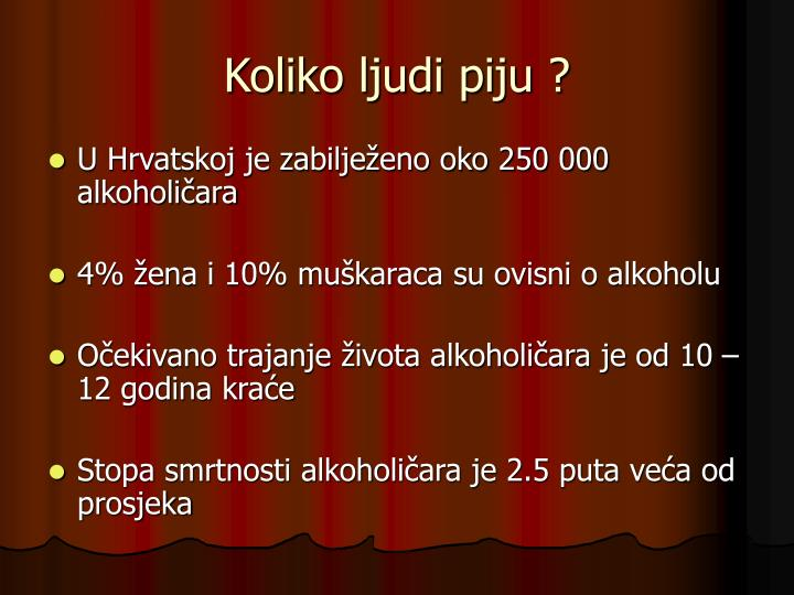 Koliko ljudi piju ?