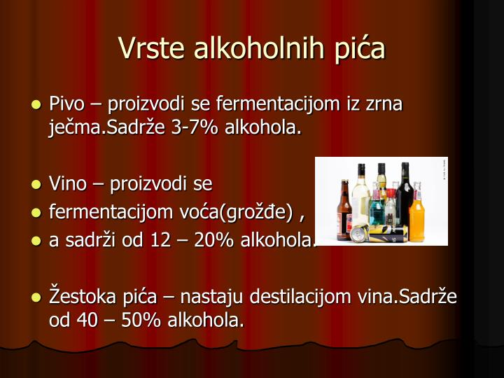 Vrste alkoholnih pića